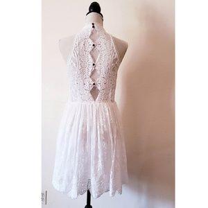 Free People White Lace Dress size 12